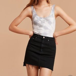 Aritzia Wilfred Free Denim Mini Skirt 6 Black